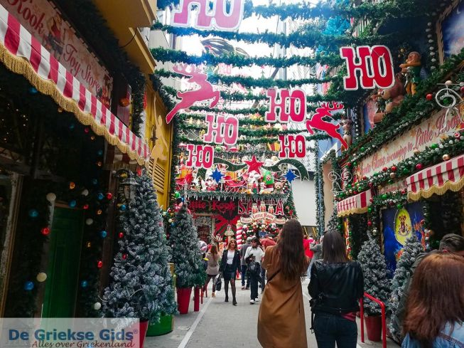 Kerstmis in Athene Griekenland